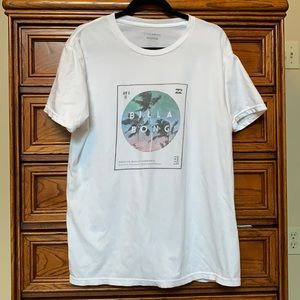 Billabong white graphic T shirt